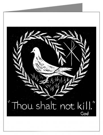 Note Card - Thou Shalt Not Kill by D. Paulos