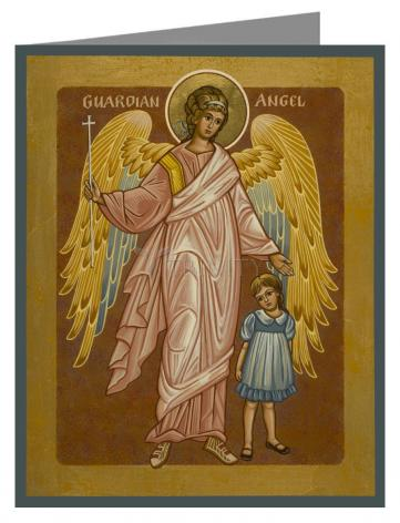 Note Card - Guardian Angel with Girl by J. Cole