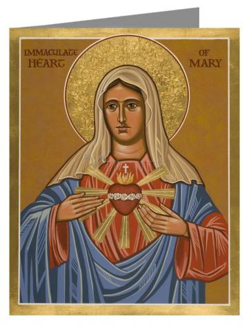 Note Card - Immaculate Heart of Mary by J. Cole