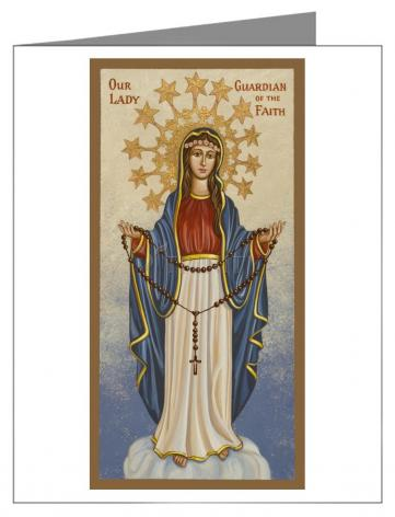 Note Card - Our Lady Guardian of the Faith by J. Cole