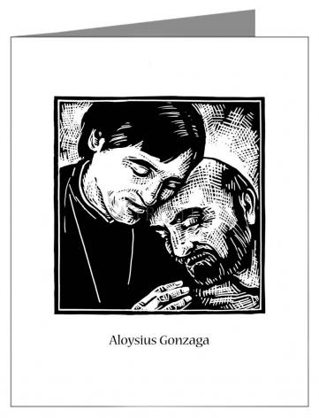 Note Card - St. Aloysius Gonzaga by J. Lonneman