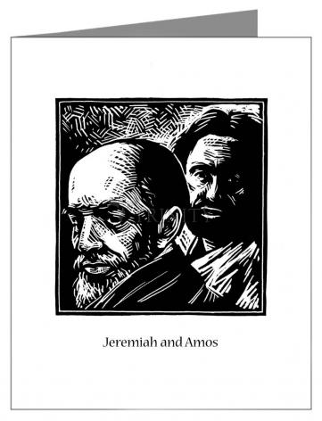 Note Card - Jeremiah and Amos by J. Lonneman