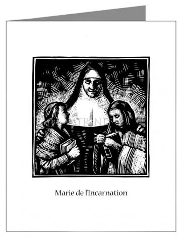 Note Card - St. Marie of the Incarnation by J. Lonneman