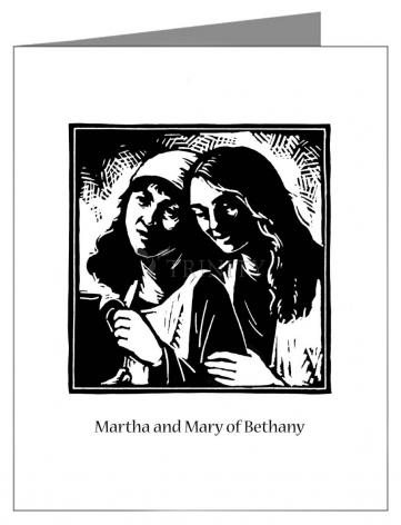 Note Card - St. Martha and Mary by J. Lonneman