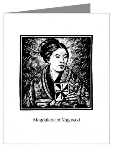 Note Card - St. Magdalene of Nagasaki by J. Lonneman