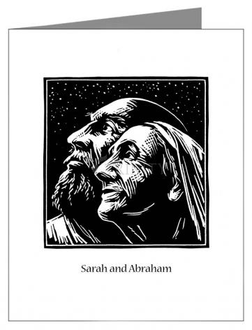 Note Card - Sarah and Abraham by J. Lonneman