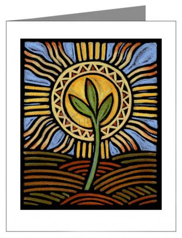 Note Card - Easter Seedling by J. Lonneman