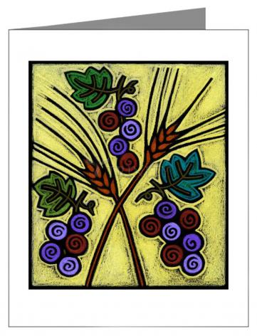 Note Card - Wheat and Grapes by J. Lonneman