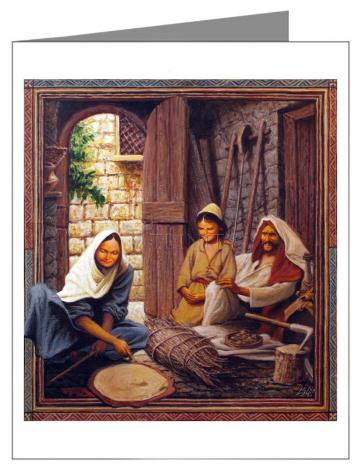 Note Card - Holy Family by L. Glanzman