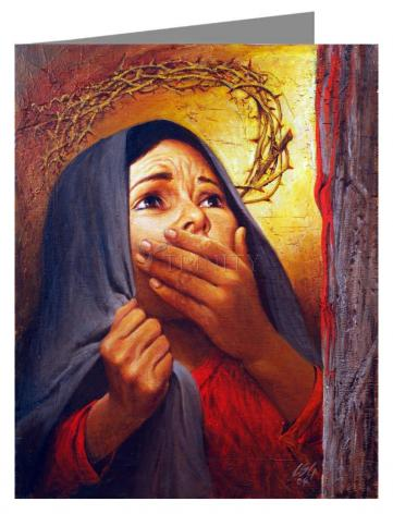 Note Card - Mary at the Cross by L. Glanzman