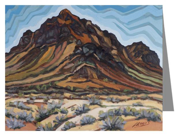 Note Card - Black Rock - A Burnt Man by L. Williams