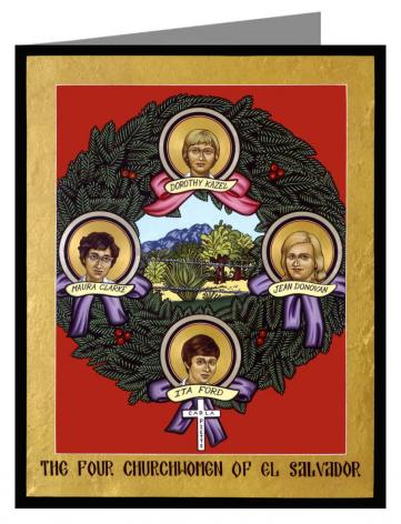 Note Card - Four Church Women of El Salvador by L. Williams