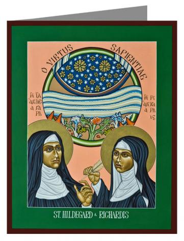 Note Card - St. Hildegard of Bingen and her Assistant Richardis by L. Williams
