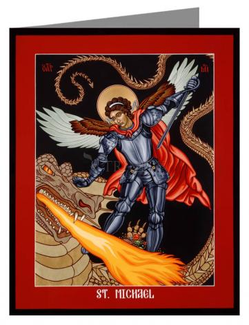 Note Card - St. Michael Archangel by L. Williams