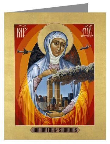 Note Card - Mater Dolorosa - Mother of Sorrows by L. Williams