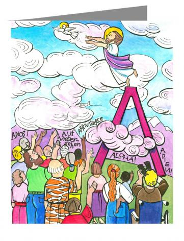 Note Card - All Apostles At Ascension by M. McGrath