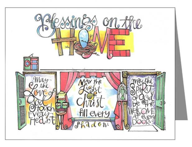 Note Card - Blessings on the Home by M. McGrath