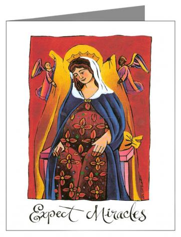 Note Card - Mary: Expect Miracles by M. McGrath