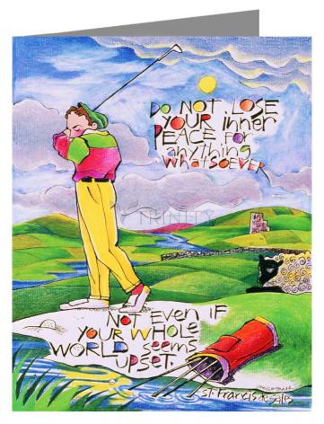 Note Card - Golfer: Do Not Lose Your Inner Peace by M. McGrath