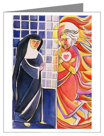 Note Card - St. Margaret Mary Alacoque, Cloister by M. McGrath