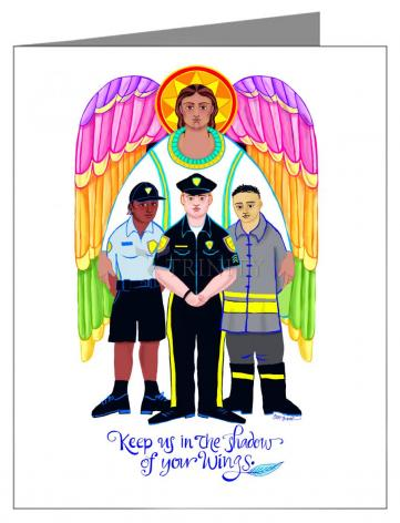 Note Card - St. Michael Archangel: Patron of Police and First Responders by M. McGrath