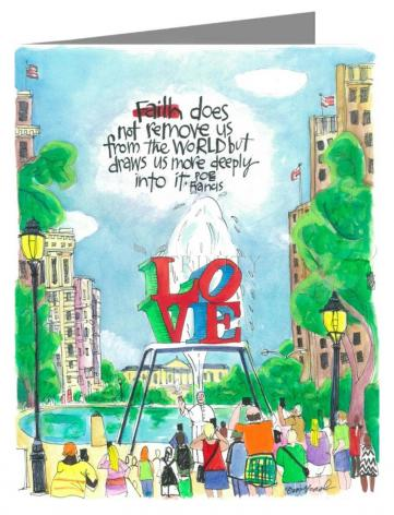 Note Card - Pope Francis: Philly Love by M. McGrath