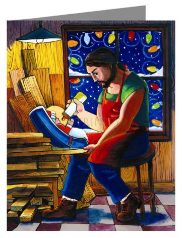 Note Card - St. Joseph and Son's Christmas by M. McGrath