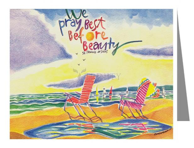Note Card - We Pray Best Before Beauty by M. McGrath