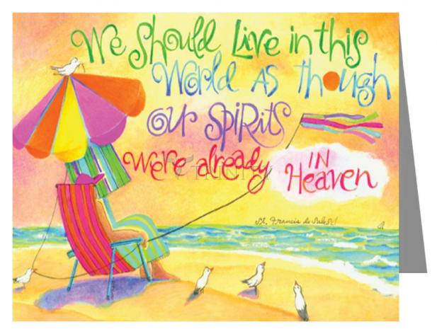 Note Card - We Should Live In This World by M. McGrath
