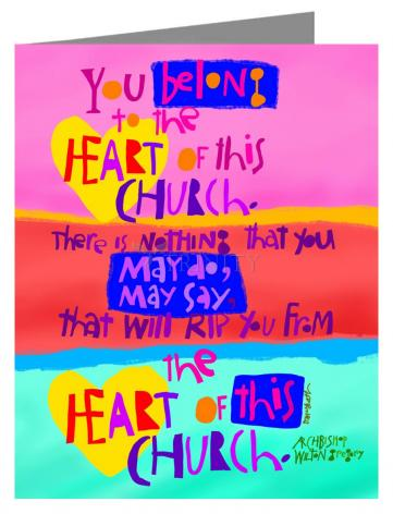 Note Card - You Belong to the Heart of this Church by M. McGrath