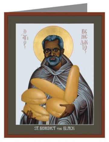 Note Card - St. Benedict the Black by R. Lentz