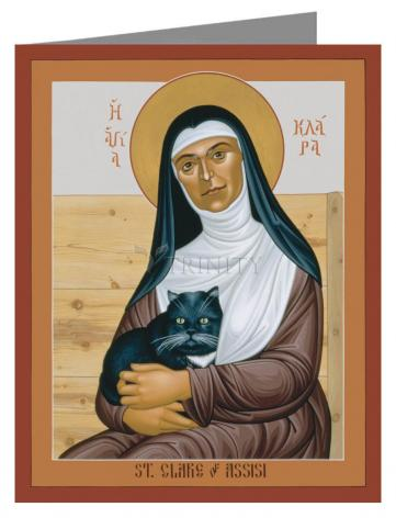 Note Card - St. Clare of Assisi by R. Lentz
