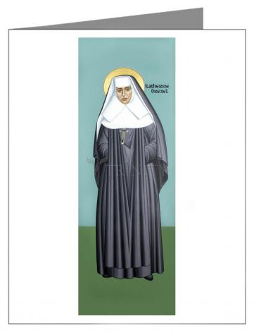 Note Card - St. Katharine Drexel by R. Lentz