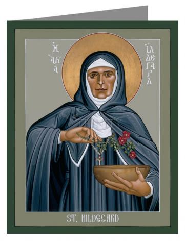 Note Card - St. Hildegard of Bingen by R. Lentz