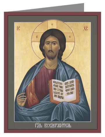 Note Card - Jesus Christ: Pantocrator by R. Lentz
