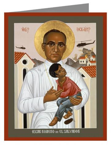 Note Card - St. Oscar Romero of El Salvador by R. Lentz