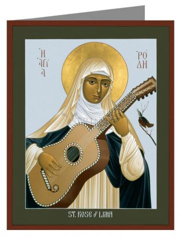 Note Card - St. Rose of Lima by R. Lentz