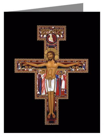Note Card - San Damiano Crucifix by R. Lentz