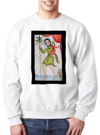 Sweatshirt - St. Christopher by A. Olivas