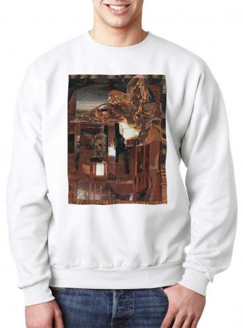 Sweatshirt - Eagle Hovers Over Ruins by B. Gilroy