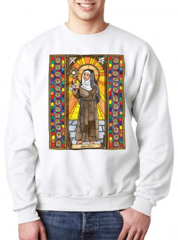 Sweatshirt - St. Clare of Assisi by B. Nippert