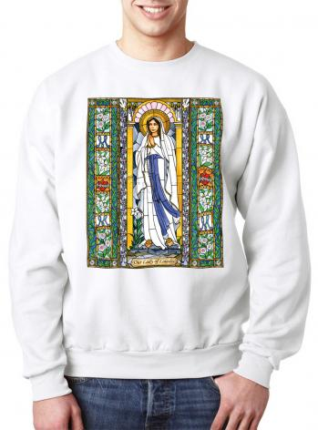 Sweatshirt - Our Lady of Lourdes by B. Nippert