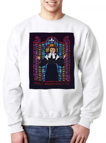 Sweatshirt - St. Bernadette of Lourdes - Window by D. Paulos