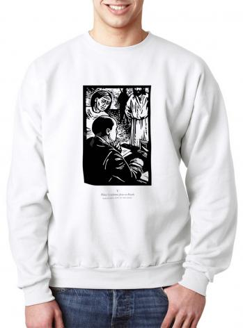 Sweatshirt - Scriptural Stations of the Cross 05 - Pilot Condemns Jesus to Death by J. Lonneman