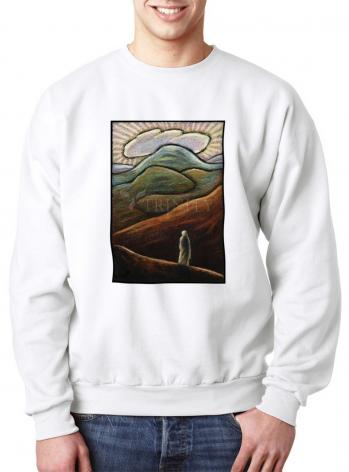 Sweatshirt - Lent, 1st Sunday - Jesus in the Desert by J. Lonneman