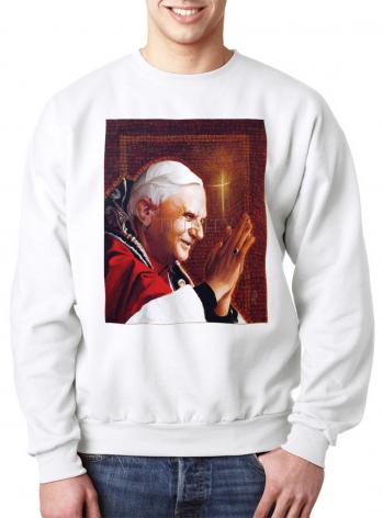 Sweatshirt - Pope Benedict XVI by L. Glanzman