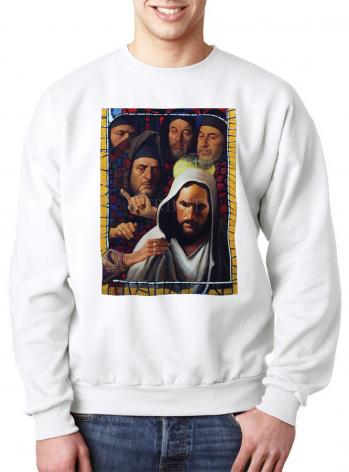 Sweatshirt - Jesus' Foes by L. Glanzman