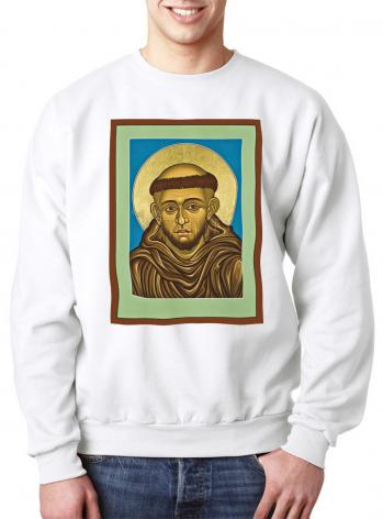 Sweatshirt - St. Francis of Assisi by L. Williams