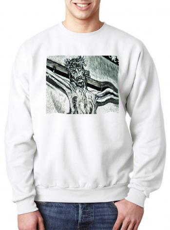 "Sweatshirt - Crucifix, Coricancha Peru: ""I Thirst"" by L. Williams"