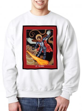 Sweatshirt - St. Michael Archangel by L. Williams